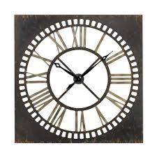 home design large square metal wall clocks modern medium the