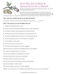 bridal shower question printable bridal shower bridal shower