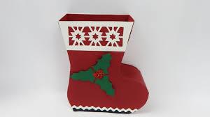 how to make a gift box saint nicholas boot christmas santas boot