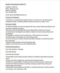 10 business analyst cv templates free samples examples format
