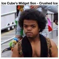 Meme The Midget - ice cubes midget son crushed ice