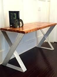 Diy Rustic Desk Wood Top Desk Bethebridge Co