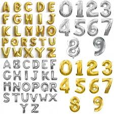 balloon decorations mylar number letter hot 16 inch gold silver letters numbers aluminum balloon decorated