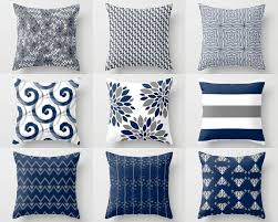 Navy Bedroom Throw Pillow Cover Pillow Covers Navy White Grey Accent Pillows