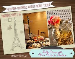 sweet 16 guest sign in book sweet 16 parisian themed guest book table inspired by fashion