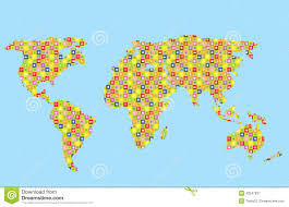 Kids World Map by Funny World Map For Kids Stock Vector Image 43247937