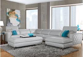 Rooms To Go Living Room Furniture by Sofia Vergara Sorrento Platinum 5 Pc Sectional Living Room