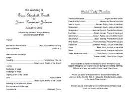 ceremony order for wedding programs wedding ceremony order of service template template design