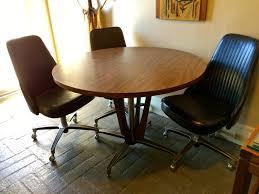 chromcraft mid century modern chrome wood dining table 5 black
