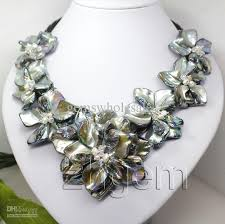 shell pearl necklace wholesale images 2018 fashion jewelry mother of pearl shell flower pendant necklace jpg