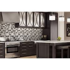 aluminum glass tile backsplash carbon blend kitchen backsplash