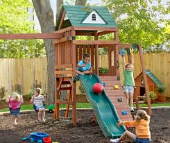 Playground Sets For Backyards by Decorating Exciting Backyard Design Ideas With Swing Sets