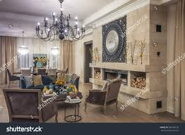 living room style provence beige tones stock photo 585156139