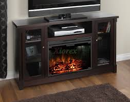 corner tv stand with glass doors muskoka coventry tv stand fireplace in espresso xiorex