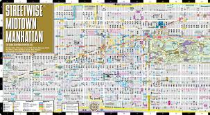 Nyc Maps Streetwise Midtown Manhattan Map Laminated City Street Map Of