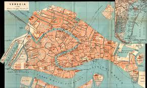 Venice Map Baedeker Map 1913 Venice Large Size