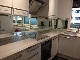 credence cuisine miroir credence murale cuisine en miroir cuisine idées de décoration
