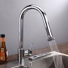 Kitchen Faucet Chrome - chrome finish contemporary pull kitchen faucet