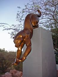 mountain lion statue mountain lion sculpture by rosetta
