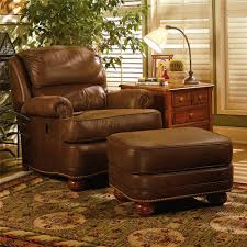 upholstered tilt back reclining chair u0026 ottoman by smith brothers