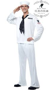 Halloween Marine Costumes White Men Fancy Dress Party Marine Sailor Role Play Halloween
