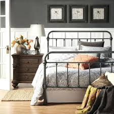 king metal bed frame toronto bella white wrought iron queen bed