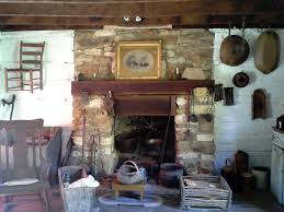 cabin interior fireplace diana staresinic deane