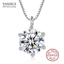 silver necklace cheap images 2016 fashion 925 sterling silver necklace pendant with zircon fine jpg