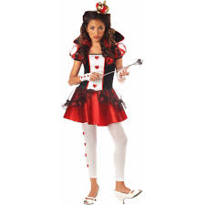wonderlands queen of hearts girls u0027 teen halloween costume