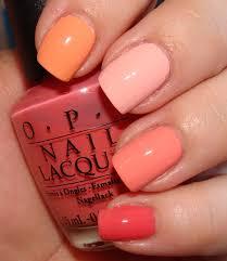 uñas de colores u2013 moda peach ombre and opi