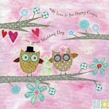 happy wedding day owls wedding cake to the happy on your wedding day card