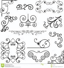 wrough iron ornaments stock vector image of decorative 3739620