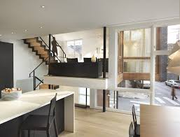 bi level homes interior design the interior features bleached and blackened oak polished