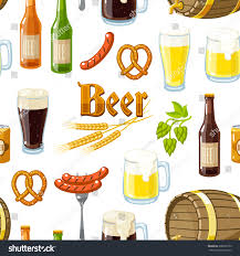 cartoon beer seamless background pattern cartoon beer stuff stock vector