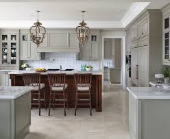 cabinet soffit kitchen transitional with white countertop