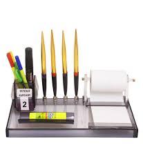 rasper multipurpose desk organizer acrylic pen stand with