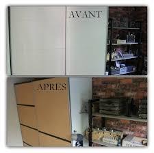 customiser une porte de chambre donner un air industriel à une armoire coulissante blanche