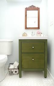 ikea double sink vanity creative oval mirror above white bathroom
