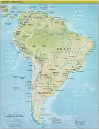 Latin And South America Map by America