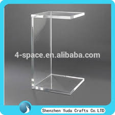 Lucite Vanity Table Clear Lucite C Shape Sofa Side Table Acrylic Lucite Vanity Table