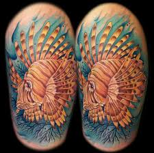 58 best lionfish u0026 ocean tats images on pinterest tatting