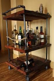 Kitchen Island Wine Rack Wood Bar Cart Wine Rack Best Ideas Of Wine