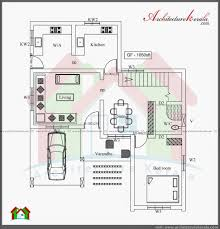 architecture kerala three bedroom two storey house plan ground