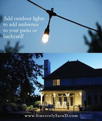 Patio Light Enbrighten Café Lights U0026 Diy Light Pole Planter Sincerely Sara D