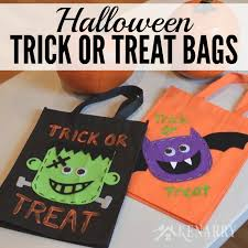 halloween trick or treat bags to make u2013 festival collections
