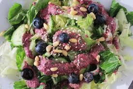 salad dressing with blueberries dijon mustard olive oil u0026 sesam