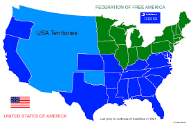 1861 Map Of The United States by Other Times The Blue And The Green Road To Secession