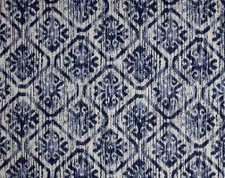 Navy And Grey Curtains Blue Ikat Curtains Etsy