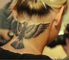 tattoo eagle girl 35 awesome eagle neck tattoos