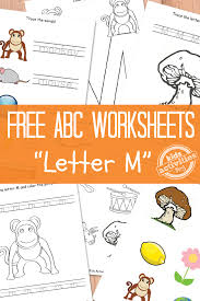 letter m worksheets free kids printable